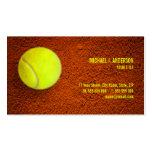 Tarjeta de visita del tenis