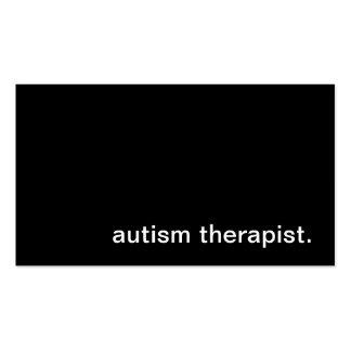 Tarjeta de visita del terapeuta del autismo