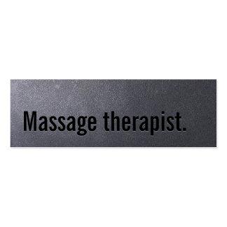 Tarjeta de visita del terapeuta del masaje del