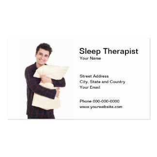 Tarjeta de visita del terapeuta del sueño
