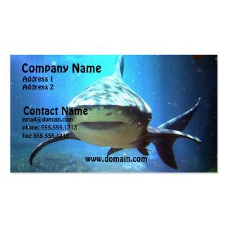 Tarjeta de visita del tiburón