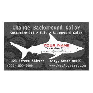 Tarjeta de visita del tiburón de Blacktip