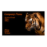 Tarjeta de visita del tigre del rugido