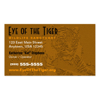 Tarjeta de visita del tigre