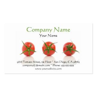 Tarjeta de visita del tomate