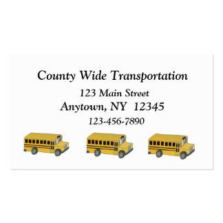 Tarjeta de visita del transporte