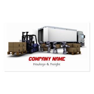 Tarjeta de visita del transporte y de carga