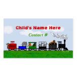 Tarjeta de visita del tren de los niños