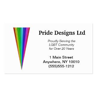 Tarjeta de visita del triángulo del arco iris