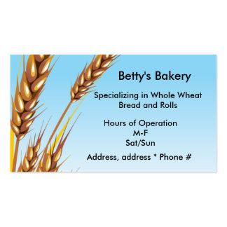 Tarjeta de visita del trigo