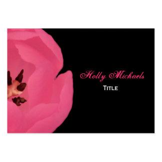 Tarjeta de visita del tulipán de las rosas fuertes