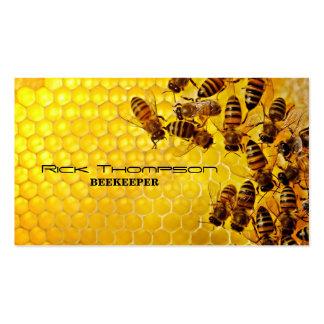 Tarjeta de visita del vendedor/del apicultor de la