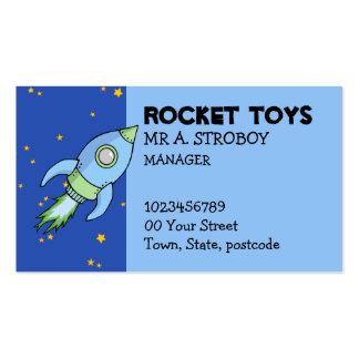 Tarjeta de visita del verde azul de Rocket
