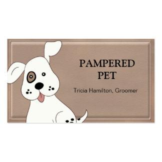 Tarjeta de visita del veterinario del Groomer/del