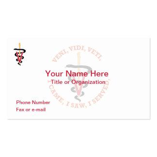 Tarjeta de visita del veterinario VVV