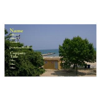 Tarjeta de visita del viaje de Great Lakes