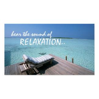 tarjeta de visita del viaje de la relajación