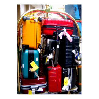 Tarjeta de visita del viaje - maletas coloridas