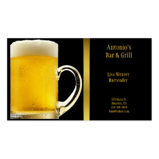 Tarjeta de visita del vidrio de cerveza