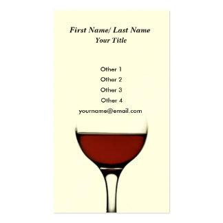 Tarjeta de visita del vino