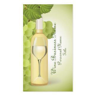 Tarjeta de visita del vino blanco
