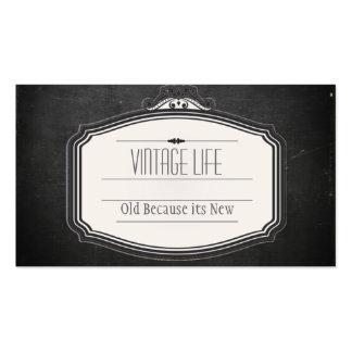 Tarjeta de visita del vintage