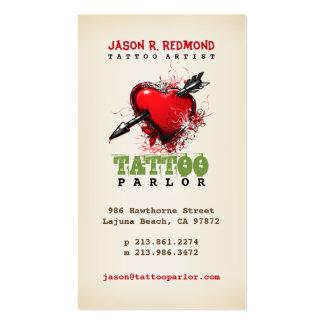 Tarjeta de visita del vintage de la sala del tatua