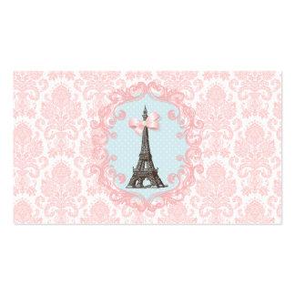 Tarjeta de visita del vintage de París