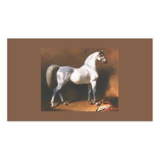 Tarjeta de visita del vintage del caballo