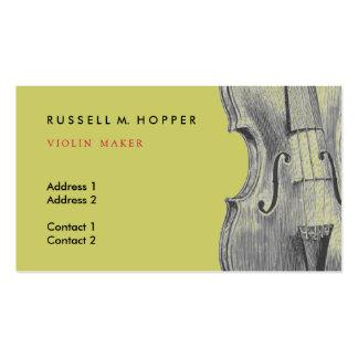 Tarjeta de visita del violín