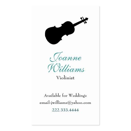 Tarjeta de visita del violinista