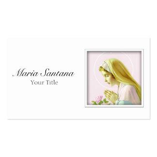 Tarjeta de visita del Virgen María