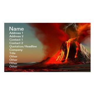 Tarjeta de visita del volcán de Hawaii