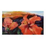 Tarjeta de visita del volcán del hibisco