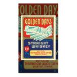 Tarjeta de visita del whisky del vintage