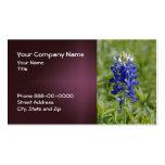 Tarjeta de visita del Wildflower del Bluebonnet de