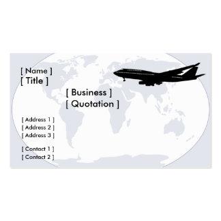 Tarjeta de visita del World Travel/del transporte
