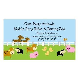 Tarjeta de visita del zoo-granja