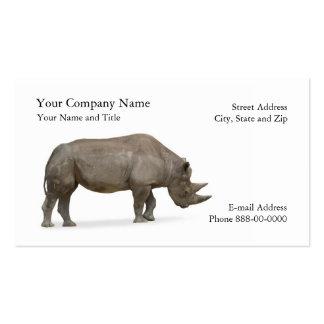 Tarjeta de visita del zoologista del rinoceronte
