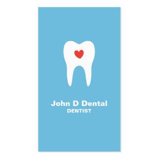 Tarjeta de visita dental azul del dentista del die
