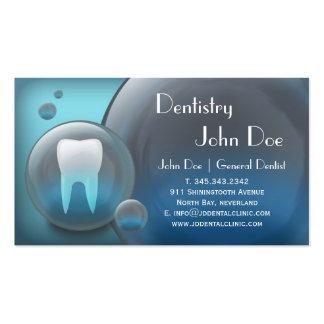 Tarjeta de visita dental de la burbuja blanca eleg