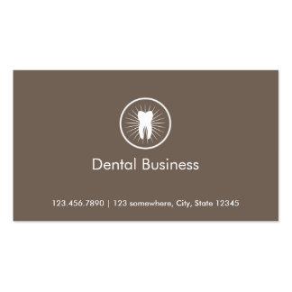 Tarjeta de visita dental de la cita del icono