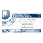 Tarjeta de visita dental del dentista blanco elega