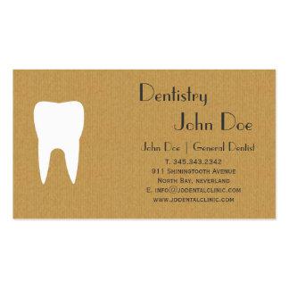 Tarjeta de visita dental del logotipo de la cartul