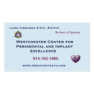 Tarjeta de visita dental modificada para requisito