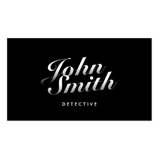 Tarjeta de visita detective caligráfica elegante