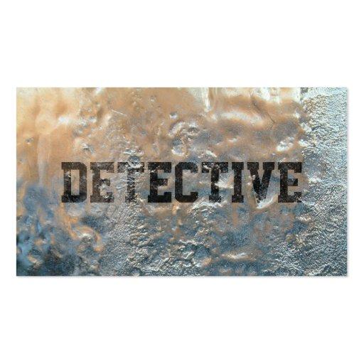 Tarjeta de visita detective congelada fresca del h