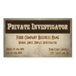 Tarjeta de visita detective del investigador priva