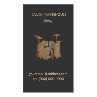Tarjeta de visita determinada del tambor