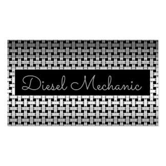 Tarjeta de visita diesel del mecánico del metal